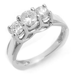 0.75 CTW Certified VS/SI Diamond Ring 18K White Gold - REF-103A5V - 10263