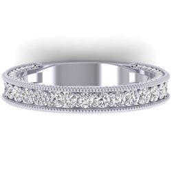 1.25 CTW VS/SI Diamond Art Deco Eternity Band Ring 14K White Gold - REF-96W4H - 30321