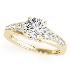 0.90 CTW Certified VS/SI Diamond Solitaire Ring 18K Yellow Gold - REF-138X2R - 27605
