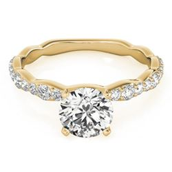 0.93 CTW Certified VS/SI Diamond Solitaire Ring 18K Yellow Gold - REF-117X3R - 27473