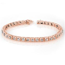 1.0 CTW Certified VS/SI Diamond Bracelet 10K Rose Gold - REF-87X5R - 10732
