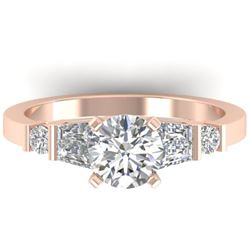 1.69 CTW Certified VS/SI Diamond Solitaire Ring 14K Rose Gold - REF-392N7A - 30394
