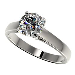 1.55 CTW Certified H-SI/I Quality Diamond Solitaire Engagement Ring 10K White Gold - REF-339F2N - 36