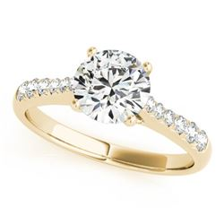 0.75 CTW Certified VS/SI Diamond Solitaire Ring 18K Yellow Gold - REF-112V9Y - 27428