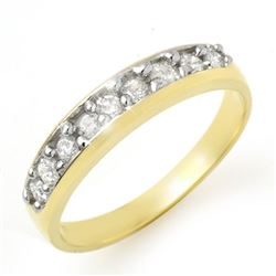 0.33 CTW Certified VS/SI Diamond Ring 10K Yellow Gold - REF-37V8Y - 12772