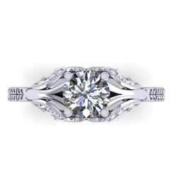 1 CTW Solitaire Certified VS/SI Diamond Ring 14K White Gold - REF-289M6F - 38538