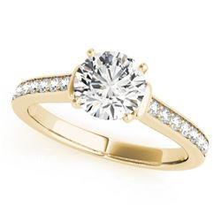 1.50 CTW Certified VS/SI Diamond Solitaire Ring 18K Yellow Gold - REF-385F6N - 27530