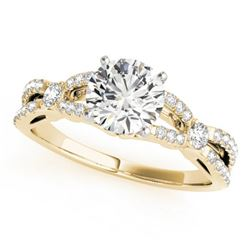 1.35 CTW Certified VS/SI Diamond Solitaire Ring 18K Yellow Gold - REF-376V2Y - 27842