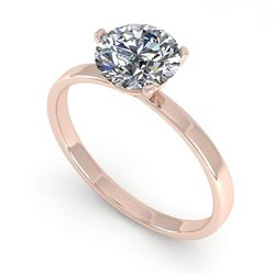 1.0 CTW Certified VS/SI Diamond Engagement Ring 18K Rose Gold - REF-298W5H - 32225