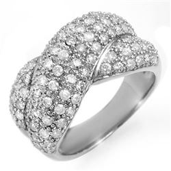 2.05 CTW Certified VS/SI Diamond Ring 18K White Gold - REF-162R2K - 14359