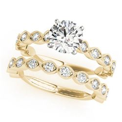 2.27 CTW Certified VS/SI Diamond Solitaire 2Pc Wedding Set 14K Yellow Gold - REF-525M5F - 31618