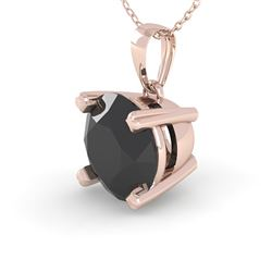 2.0 CTW Black VS/SI Diamond Designer Necklace 14K Rose Gold - REF-60H4M - 38430