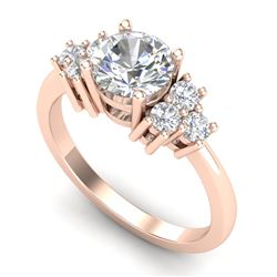 1.50 CTW VS/SI Diamond Solitaire Ring 18K Rose Gold - REF-409N3A - 36939