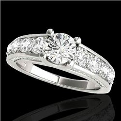 2.55 CTW H-SI/I Certified Diamond Solitaire Ring 10K White Gold - REF-294V5Y - 35507