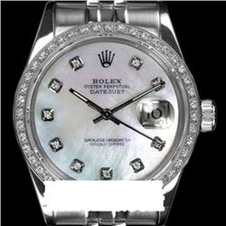 Rolex Ladies Stainless Steel, Diamond Dial & Diamond Bezel, Sapphire Crystal - REF-473X2Y