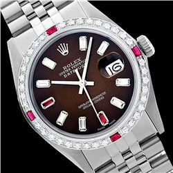 Rolex Ladies Stainless Steel, Diam/Ruby Dial & Diam/Ruby Bezel, Sapphire Crystal - REF-467H6W