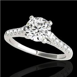 1.20 CTW H-SI/I Certified Diamond Solitaire Ring 10K White Gold - REF-145R3K - 34970
