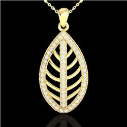 1 CTW Micro Pave VS/SI Diamond Certified Designer Necklace 18K Yellow Gold - REF-100W2H - 21547