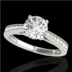 1.25 CTW H-SI/I Certified Diamond Solitaire Ring 10K White Gold - REF-158Y2X - 35005