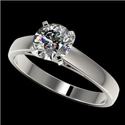 1.29 CTW Certified H-SI/I Quality Diamond Solitaire Engagement Ring 10K White Gold - REF-191V3Y - 36