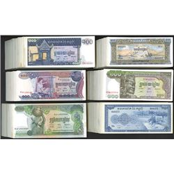 Large Assortment of Cambodian Paper Money. 1956-1972.