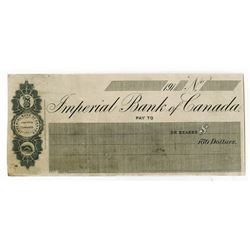 Imperial Bank of Canada, 191x (ca.1910-1919) Proof Check by Waterlow & Sons.