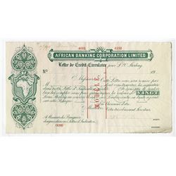African Banking Corporation Limited, 1910 Specimen Circular Letter of Credit (An early form of Trave