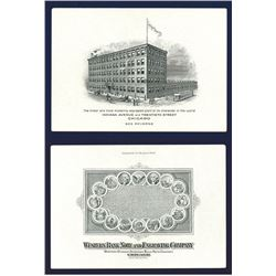 Western Bank Note Company Engraved Advertising Business Card.