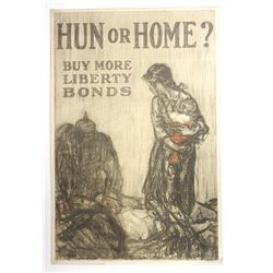 Hun of Home? Buy More Liberty Bonds, ca.1916-1918 Patriotic Poster
