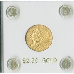 Indian $2.50, 1913,  Eagle Reverse, gold  AU