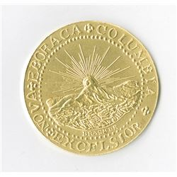 Brasher Dubloon 1878 Restrike in 22K Gold, #30 of 100 Minted. Also includes a Silver Colored version