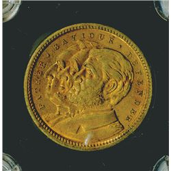 Columbian Exposition, 1892 Columbus Brass, With Washington, Lincoln and Grant on back.