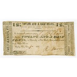"""Ripley, Ohio. """"Payable at My Coffee House"""" 1837 Scrip Note."""