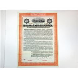 Louisiana Timer Corp., 1909 Specimen Bond