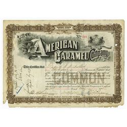 American Caramel Co., 1898 Cancelled Stock Certificate