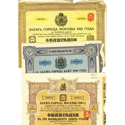 Issued Russian Bond trio, ca.1908-1912
