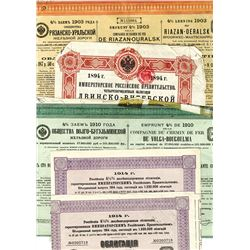 Large Group of Issued Russian Bonds ca.1894-1914