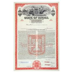 State of Israel, 1950-1960 Specimen Registered Bond