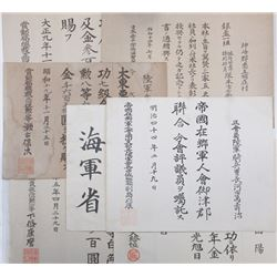 Japanese Assortment of 7 Different Notices, ca.1930-50.