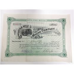 Little Rule Mining Co., Mines at Aspen, Colorado, 1892 Issued stock Certificate.