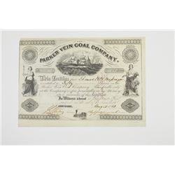Parker Vein Coal Co., 1853 Issued Stock Certificate