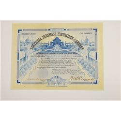 Louisiana Purchase Exposition Co., 19003 Issued Stock Certificate