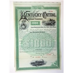 Kentucky Central Railway Co., 1887 Specimen Bond