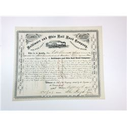 Baltimore and Ohio Rail Road Co., 1875 Cancelled Stock Certificate