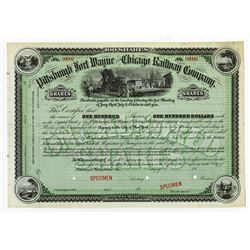 Pittsburgh, Fort Wayne and Chicago Railway Co., ca.1900-1920 Specimen Stock Certificate