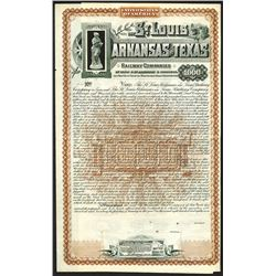 St.Louis Arkansas and Texas Railway Companies, 1887 Specimen Bond.