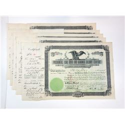 Pocahontas, Coal River and Kanawha Railway Co., 1903 Group of Cancelled Stock Certificates