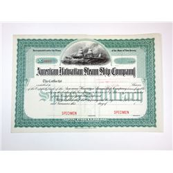 American Hawaiian Steam Ship Co., ca.1890-1910 Specimen Stock Certificate