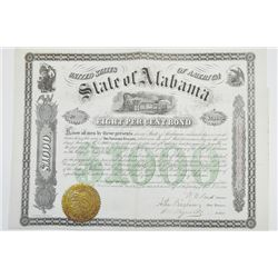 State of Alabama, 1870 Issued Bond