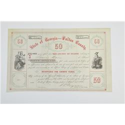 County of Fulton, 1866 Cancelled Bond